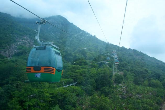 Gondola on Black/Virgin Mtn. in Tay Ninh, Vietnam